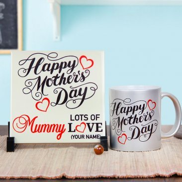 Mothers Day Mug and Ceramic Tile Combo