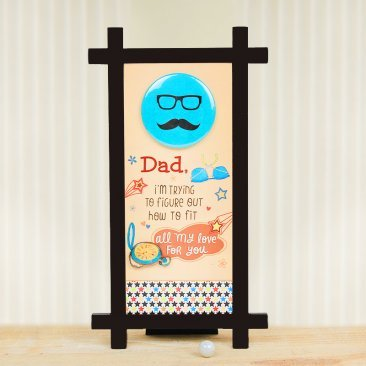 A Printed Fathers day Table Stand for Dad