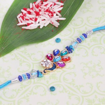 Precious Peacock Rakhi - Mor Rakhi for Brother