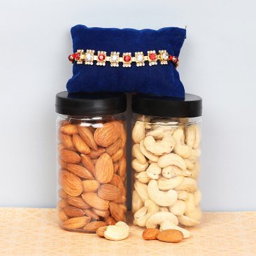 Dry Fruits and Rakhi Gift Combo