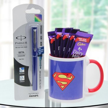 Gift superman brother hamper to your brother