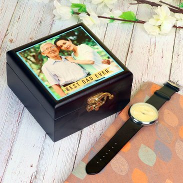 Fathers day Watch and Personalised Wooden Box for Dad