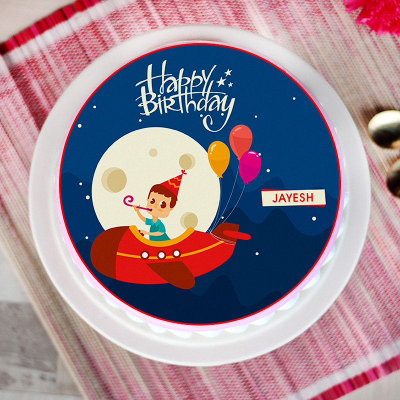 Whimsy Airplane Poster Cake