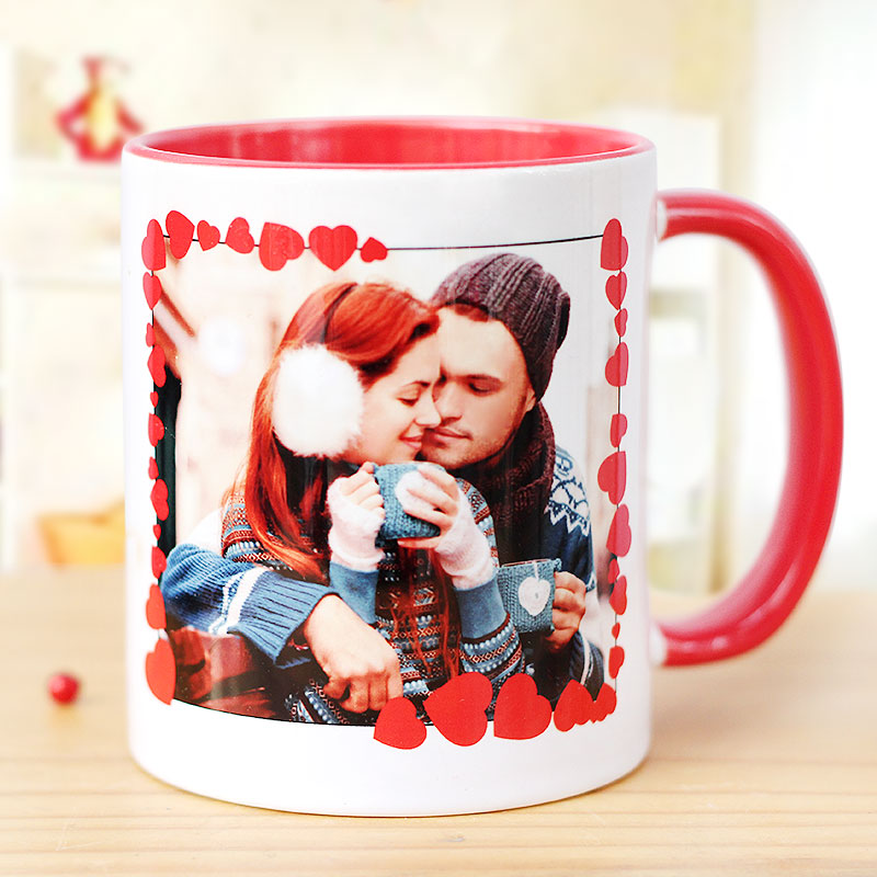 Valentines Personalised Mug with Photo for Boyfriend